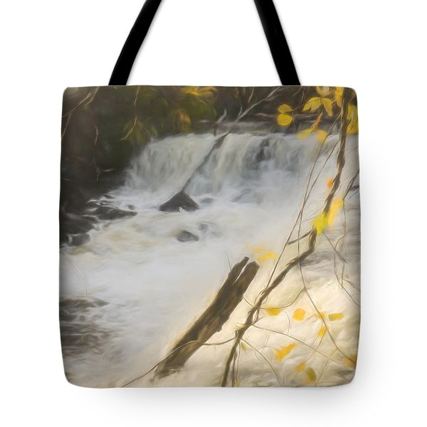 Water Over The Dam. Tote Bag