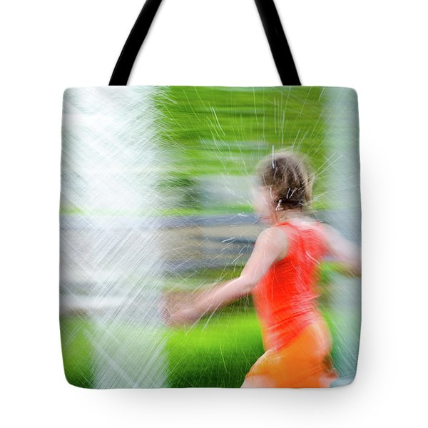 Water Park In The Summer Tote Bag