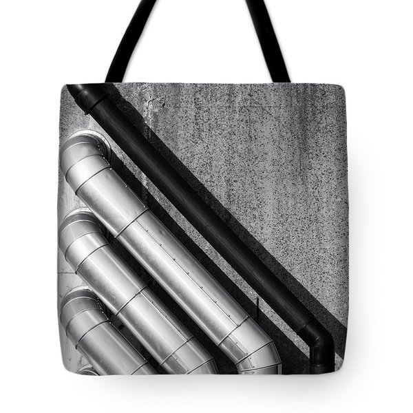 Water Pipes Tote Bag by Wim Lanclus