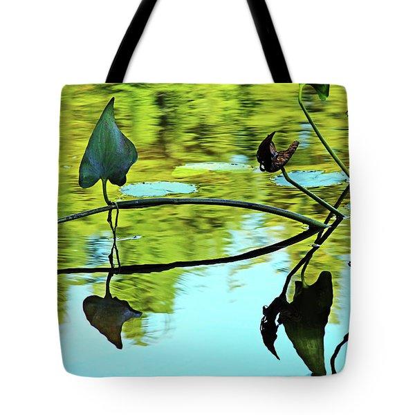 Water Plants Tote Bag by Debbie Oppermann