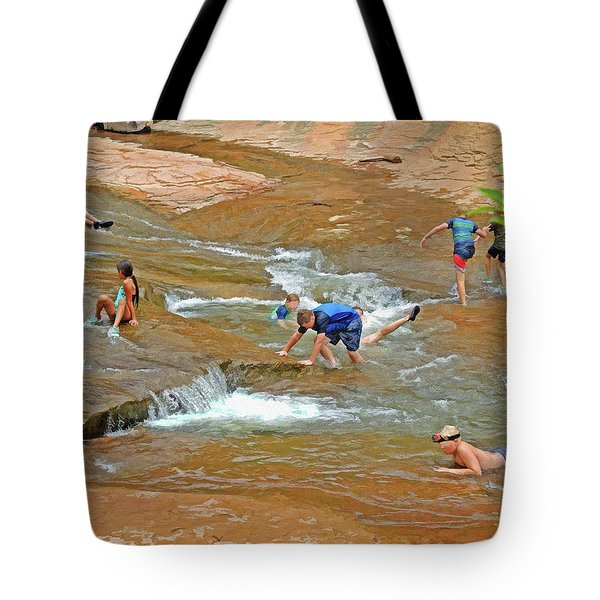 Water Play 3 Tote Bag