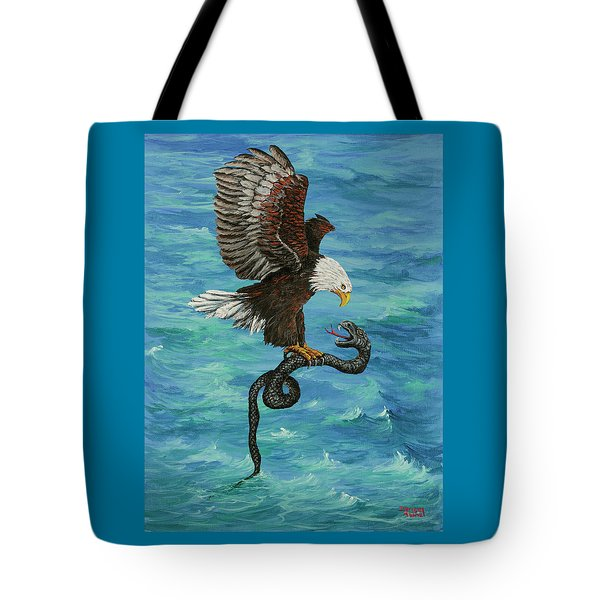 Tote Bag featuring the painting Water Protector by Darice Machel McGuire