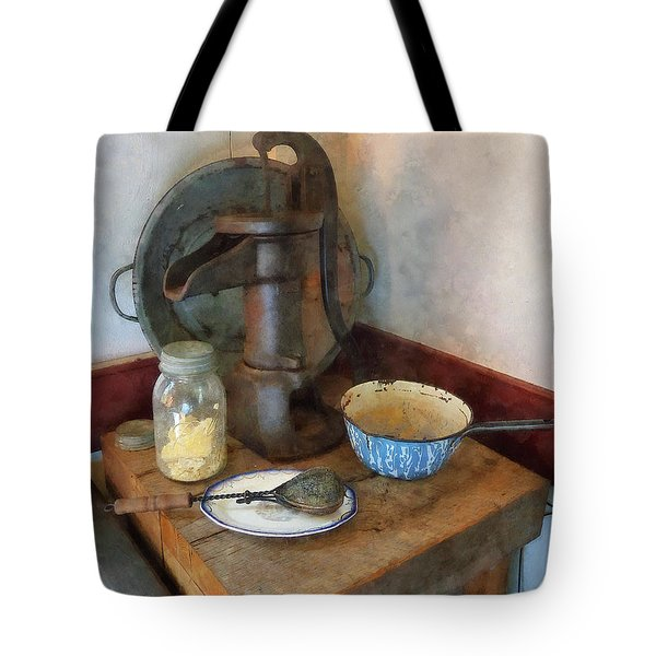 Water Pump In Kitchen Tote Bag