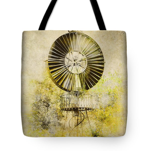 Tote Bag featuring the photograph Water-pumping Windmill by Heiko Koehrer-Wagner