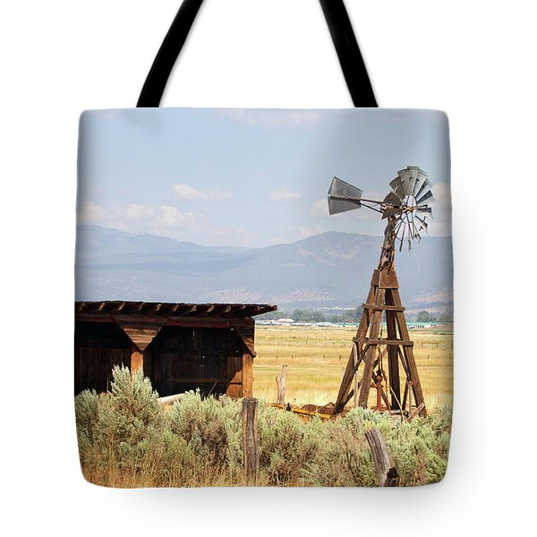 Water Pumping Windmill Tote Bag