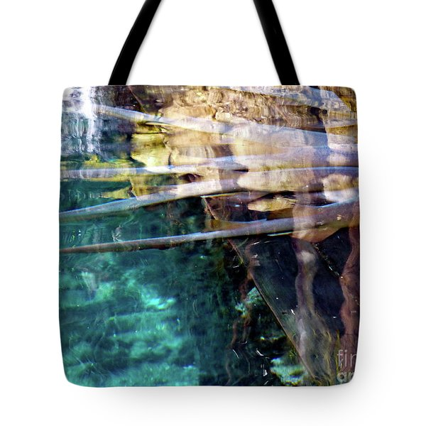 Tote Bag featuring the photograph Water Reflections by Francesca Mackenney
