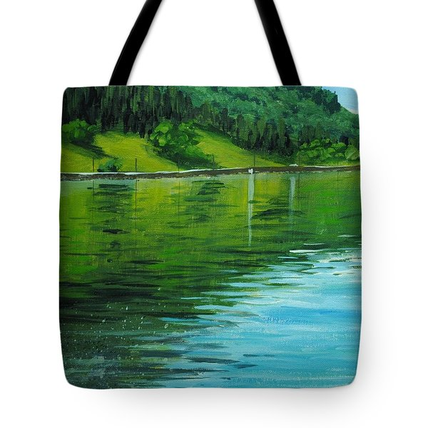 Water Reflections Tote Bag by Nolan Clark