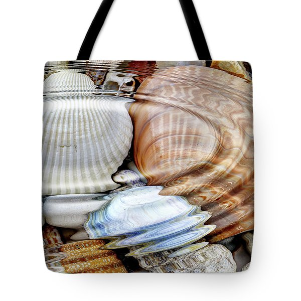 Water Ripples Over The Stone Pebbles Tote Bag by Michal Boubin