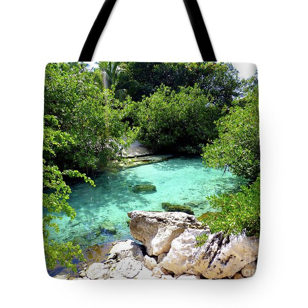 Tote Bag featuring the photograph Water Shallows by Francesca Mackenney