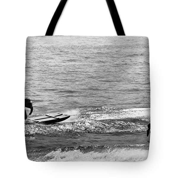Water Skiing Elephant Tote Bag