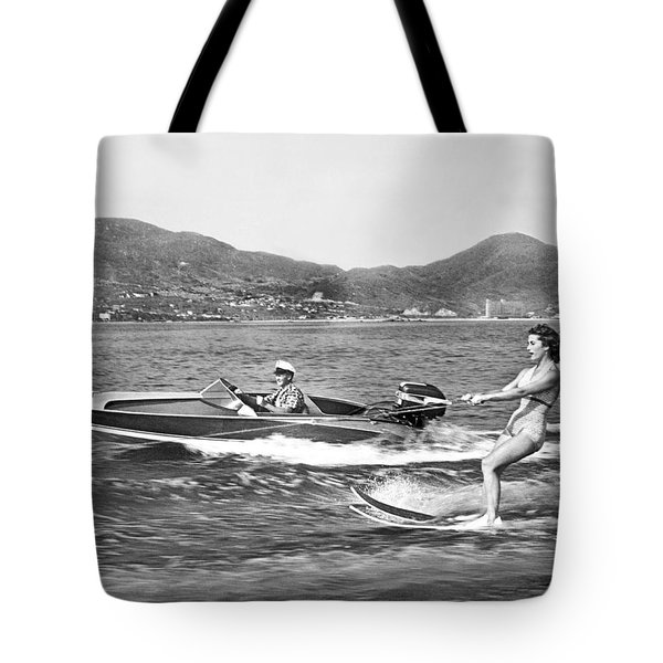 Water Skiing In Acapulco Tote Bag