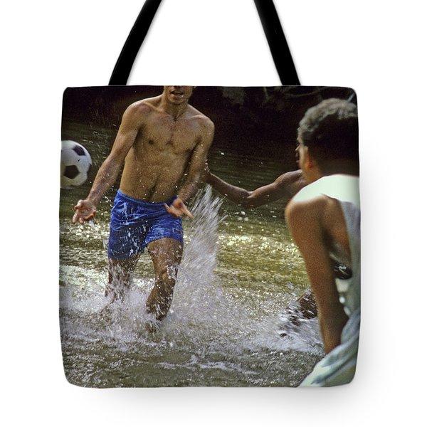 Water Soccer Tote Bag