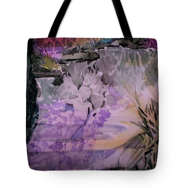 Tote Bag featuring the painting Water Sprite by Mindy Newman