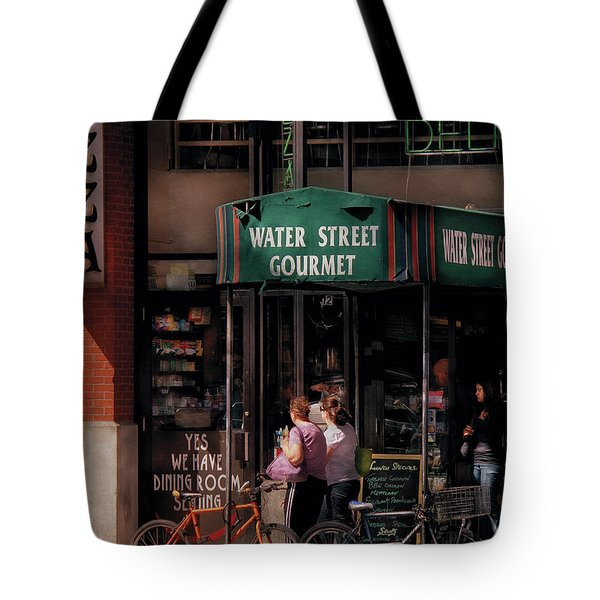 Water St Gourmet Deli  Tote Bag by Mike Savad