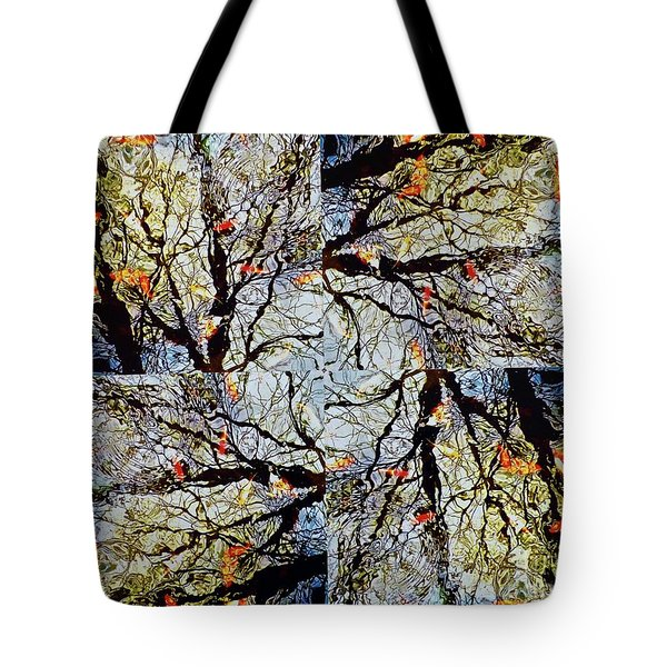 Water Surface Matrix Tote Bag