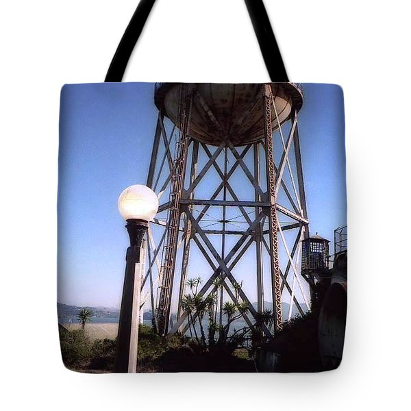 Water Tank Tower Alcartraz Tote Bag