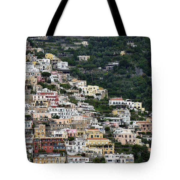Water Taxi From Amalfi To Positano Tote Bag