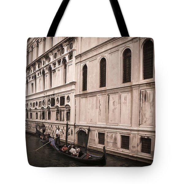 Water Taxi In Venice Tote Bag