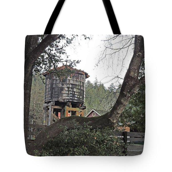Water Tower @ Roaring Camp Tote Bag