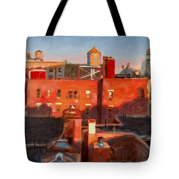 Water Towers At Sunset No. 3 Tote Bag