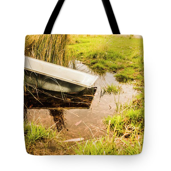 Water Troughs And Outback Farmland Tote Bag