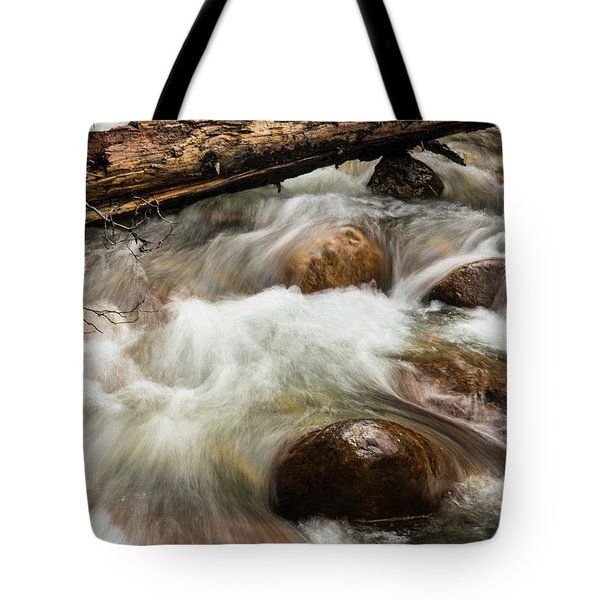Tote Bag featuring the photograph Water Under The Bridge by Alex Lapidus