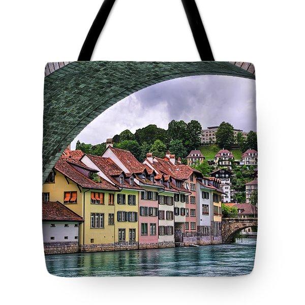 Water Under The Bridge In Bern Switzerland Tote Bag