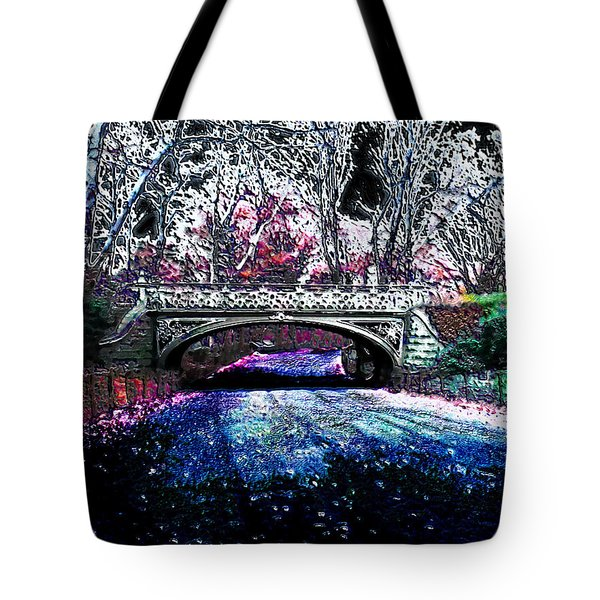 Water Under The Bridge Tote Bag by Iowan Stone-Flowers