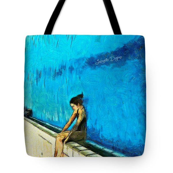Water Wall Tote Bag by Leonardo Digenio