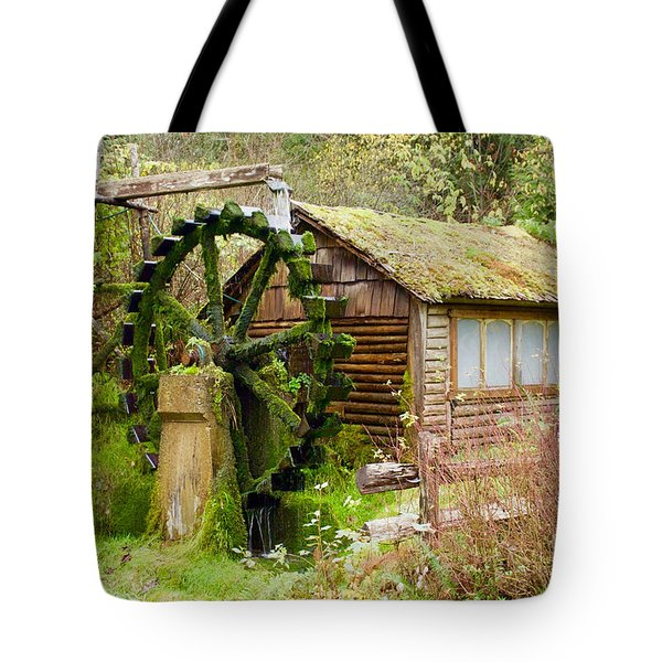 Water Wheel Tote Bag by Sean Griffin