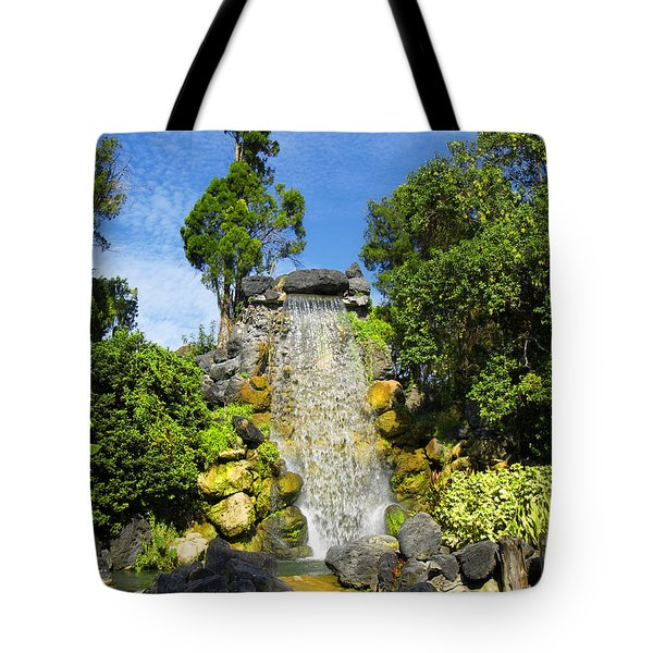 Tote Bag featuring the photograph Water Works by Barbara Middleton