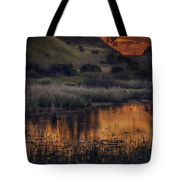 Waterbird Preserve Sunrise Tote Bag