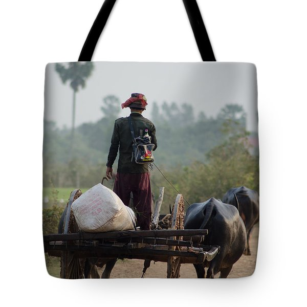 Waterbuffalo Driver With Angry Birds Tote Bag Tote Bag by Jason Rosette