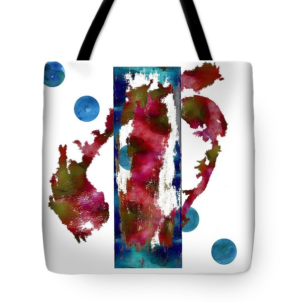 Watercolor Abstract 1 Tote Bag by Kandy Hurley