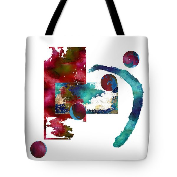 Watercolor Abstract 2 Tote Bag by Kandy Hurley