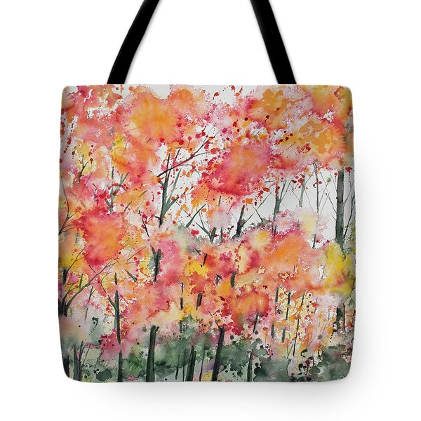 Watercolor - Autumn Forest Tote Bag