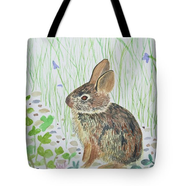 Watercolor - Baby Bunny Tote Bag