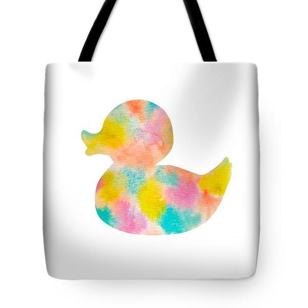 Watercolor Baby Duck Tote Bag by Nursery Art