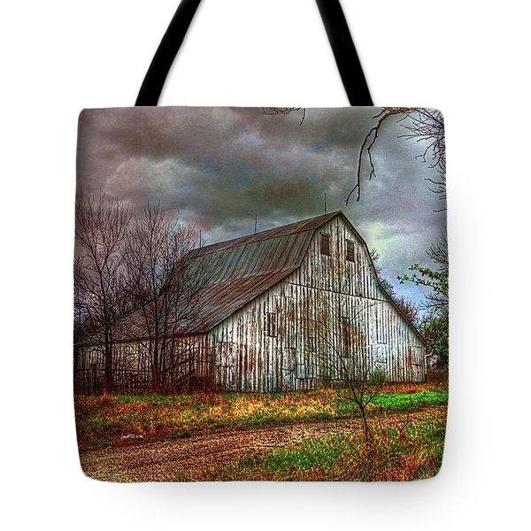 Watercolor Barn 2 Tote Bag