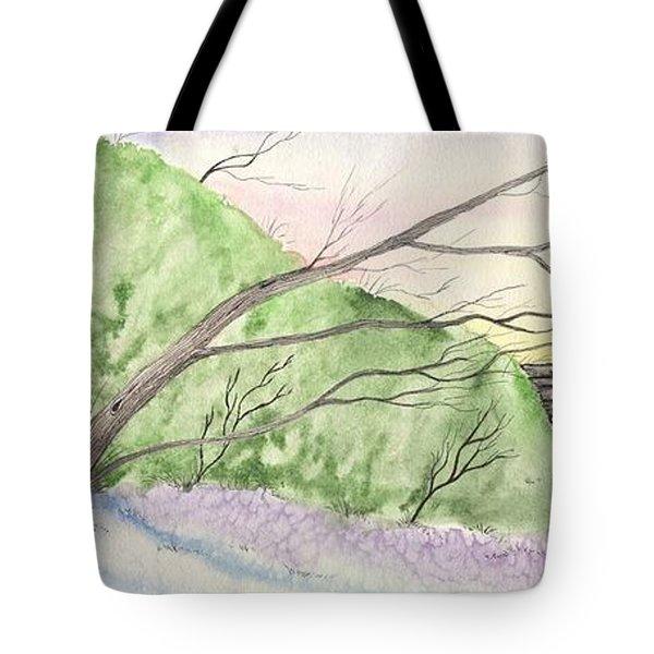 Watercolor Barn Tote Bag
