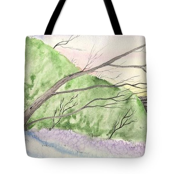 Tote Bag featuring the painting Watercolor Barn by Darren Cannell