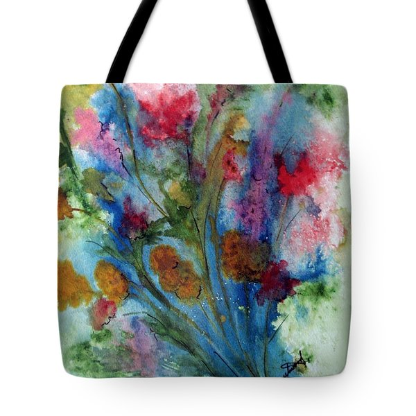 Watercolor Bouquet Tote Bag