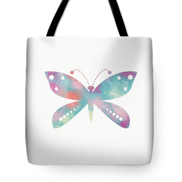 Watercolor Butterfly 3-art By Linda Woods Tote Bag
