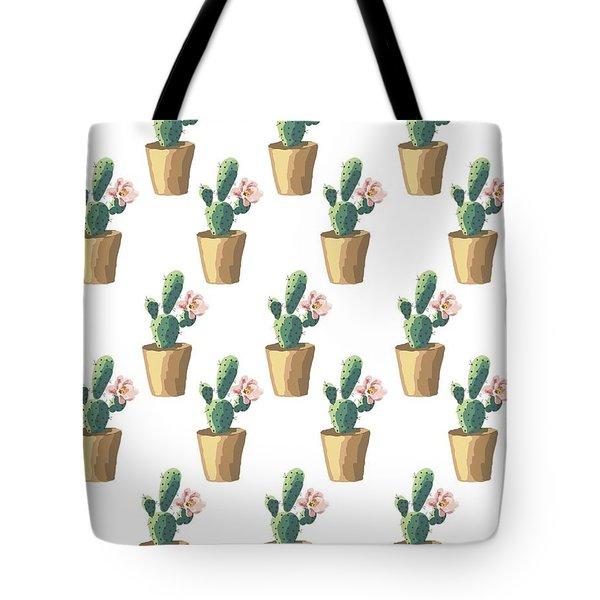 Watercolor Cactus Tote Bag by Roam  Images