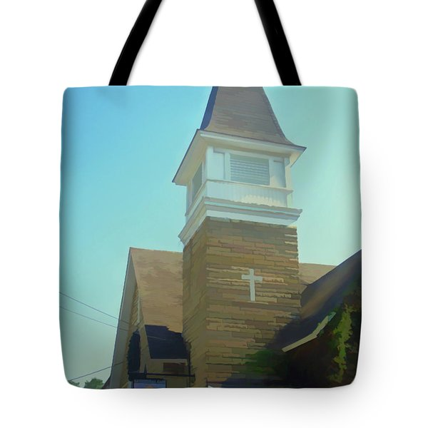 Tote Bag featuring the photograph Watercolor Cathedral Cafe by Aimee L Maher Photography and Art Visit ALMGallerydotcom