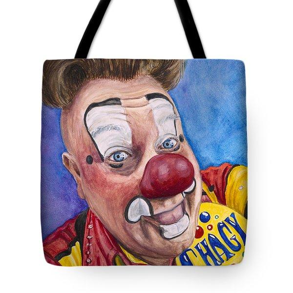 Watercolor Clown #21 Eugenio Adorno Espinell Tote Bag
