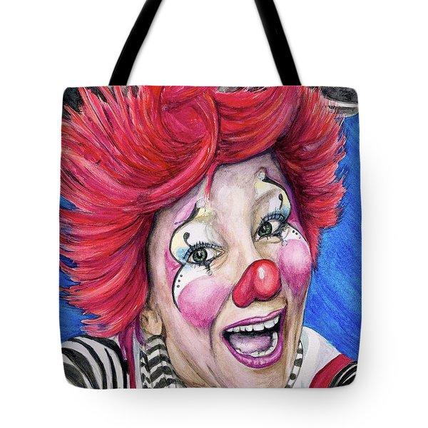 Watercolor Clown #24 Kelly Lynn Diehl Tote Bag