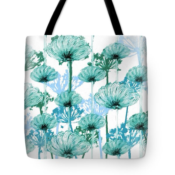 Tote Bag featuring the digital art Watercolor Dandelions by Bonnie Bruno