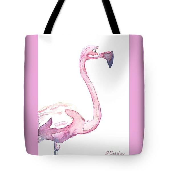Watercolor Flamingo II Tote Bag