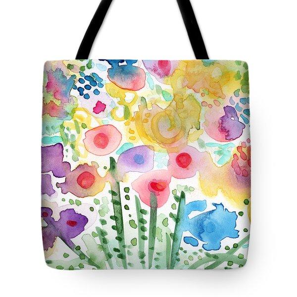 Watercolor Flower Garden- Art By Linda Woods Tote Bag